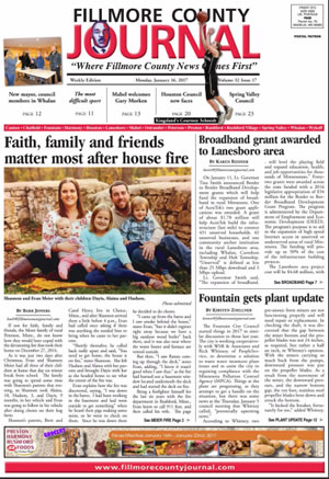 Fillmore County Journal - January 16, 2017