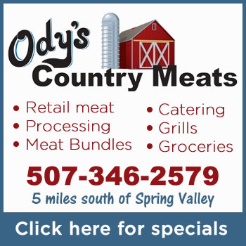 Fillmore County News - Southeast Minnesota News - Odys Country Meats - Fresh Retail Meats, Meat Processing, Slaughtering, Catering, Green Mountain Grills, Spring Valley, MN