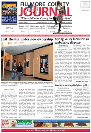 Fillmore County Journal February 20, 2017