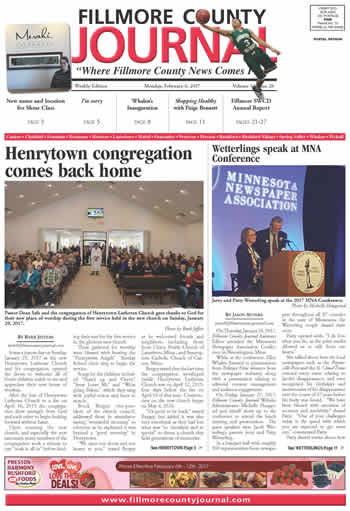 Fillmore County Journal - February 6, 2017