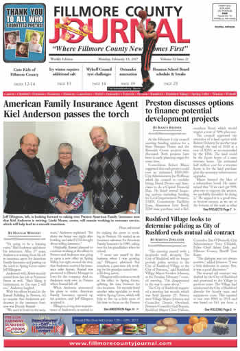 Fillmore County Journal February 13, 2017