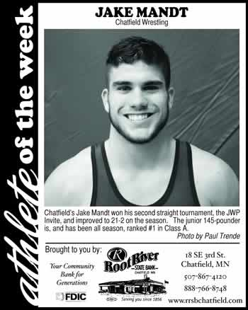 Fillmore County Journal Athlete of the Week ~ Jake Mandt