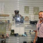 Postmaster Bill Bires brings his memorabilia collection to the Preston Post Office