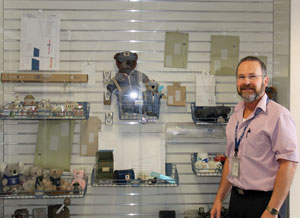 Postmaster Bill Bires brings his memorabilia collection to the Preston Post Office