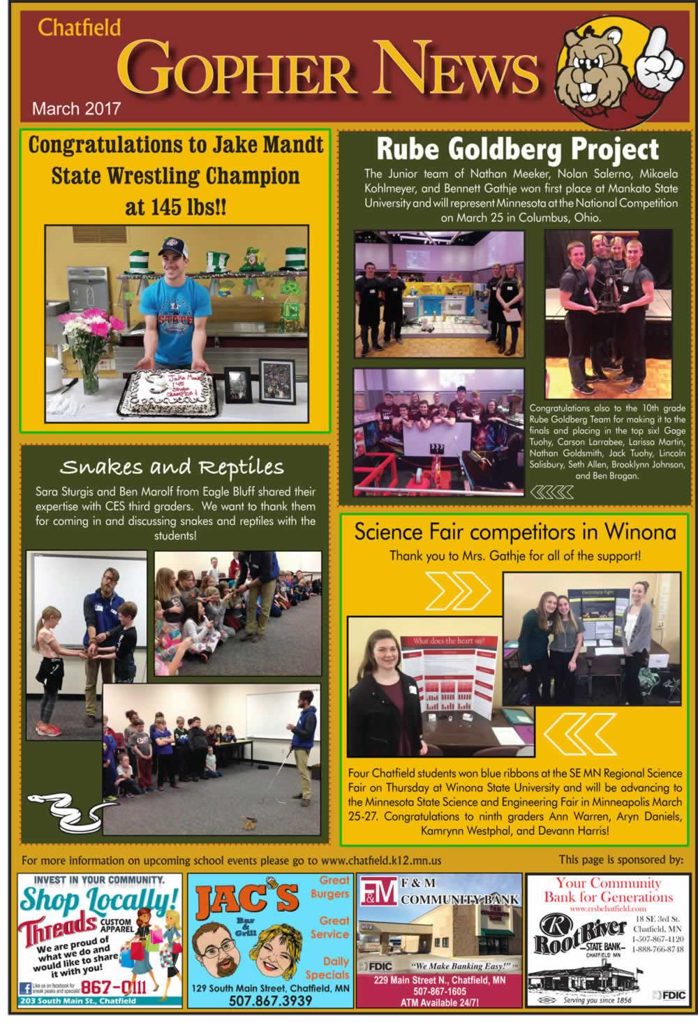 Fillmore County Journal - Gopher News