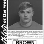 Fillmore County Journal Athlete of the Week ~ McCoy Tekautz