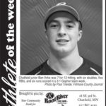 Fillmore County Journal Athlete of the Week ~ Ben Ihrke