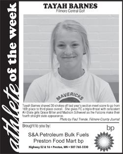 Fillmore County Journal Athlete of the Week – Tayah Barnes