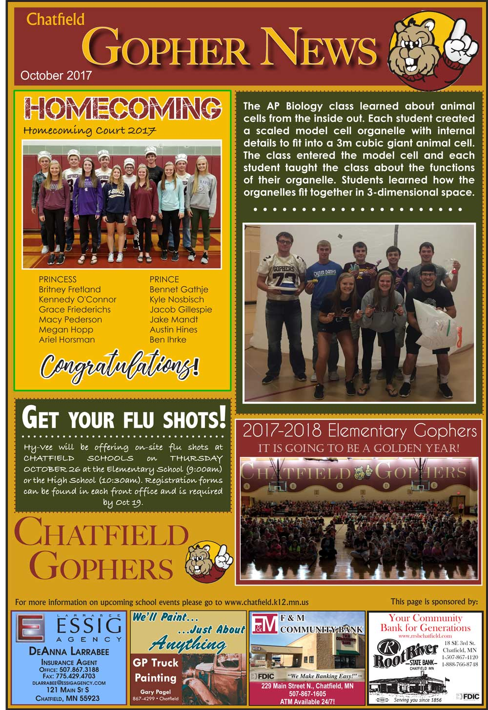 Fillmore County Journal - Chatfield Gopher News