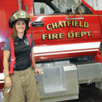 Harstad becomes Chatfield's first female firefighter