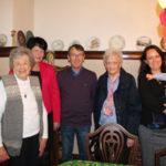 Norwegian family arrives for lutefisk dinner in Preston