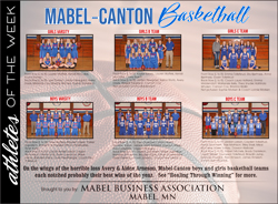Athletes of the Week – Mabel-Canton Basketball Teams