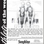 Athlete of the Week – Anika Reiland, Lauren Buchholtz, Emily Hoveden, Riley Queensland