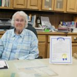 Mabel librarian celebrates 90th birthday and 24 years at the library