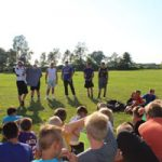 Olstad shares experience with young Falcons