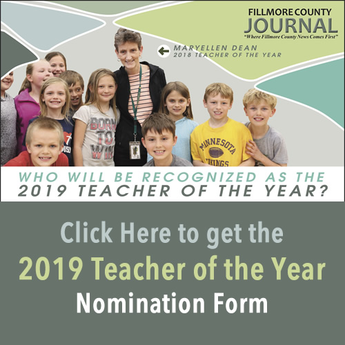 Fillmore County Journal - 2019 Teacher of the Year