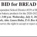 Fillmore County Journal - Notice of bid for bread products
