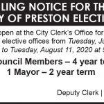 Fillmore County Journal - City of Preston Filing Notice