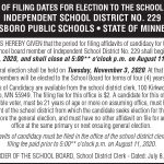 Fillmore County Journal - Lanesboro Public Schools Filing Notice