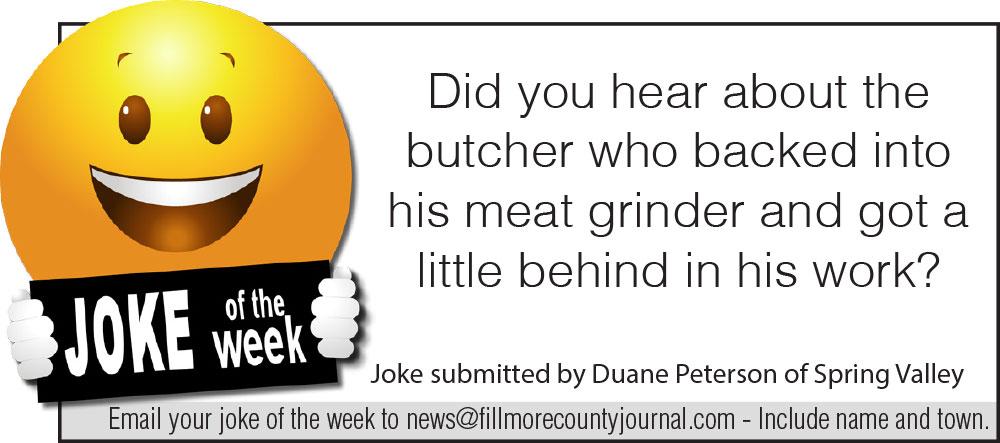 Fillmore County Journal - Joke of the Week - 8.3.20