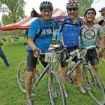 Left to right, SV 100 organizers Mike Blakeslee of Cannon Falls, Minn., Paul Vogel of Rocky River, Ohio, and Alan Matson of Burlington, Vt. Photo submitted