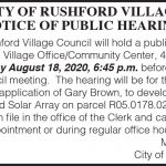 Fillmore County Journal - City of Rushford Public Hearing