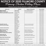Fillmore County Journal - Fillmore County Polling Places